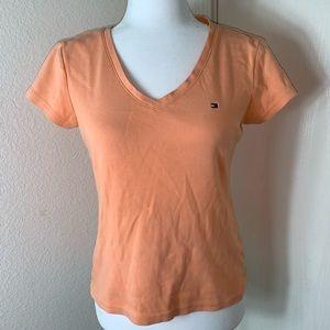 Tommy Hilfiger Orange Short Sleeve Tee. Size M